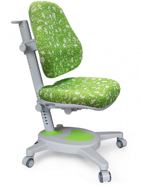 Детское кресло Mealux Onyx обивка зеленая с буквами