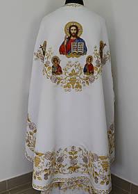 Церковное облачение, машинная вышивка,белый