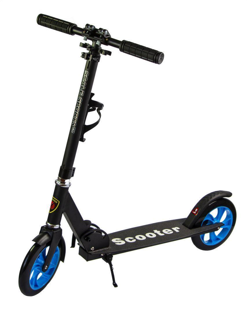 Самокат двухколесный для детей и взрослых Scale Sports SS-15 Черный цвет