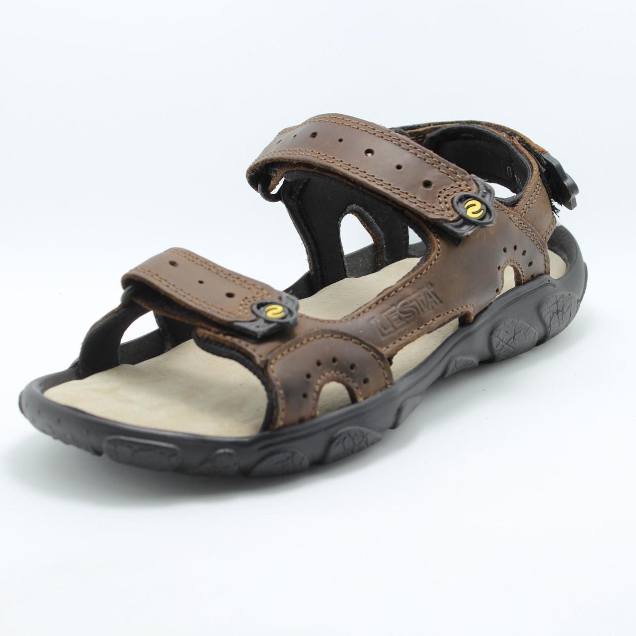 Мужские сандалии кожаные Lesta 042-1091-9-20E1
