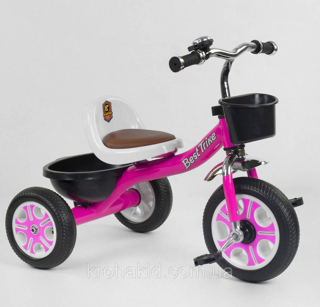 """Велосипед 3-х колёсный LM-2806 """"Best Trike"""", пено колесо, переднее d=26см, заднее d=20см, звоночек, 2 корзины,"""