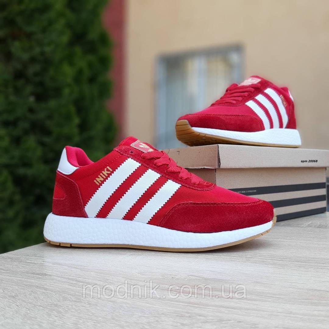 Женские кроссовки Adidas INIKI (красные) 20068