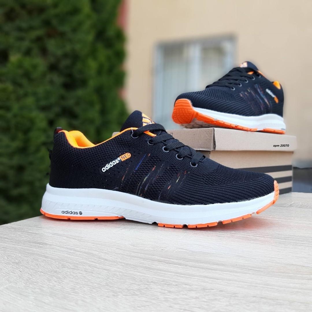 Женские кроссовки Adidas NEO (черно-оранжевые) 20070