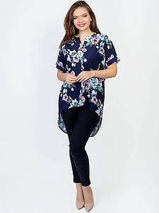 Платье size + с удлиненной спинкой и V-образным вырезом 2963