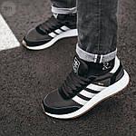 Мужские кроссовки Adidas Iniki (черно-белые) 107PL, фото 2