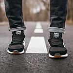 Мужские кроссовки Adidas Iniki (черно-белые) 107PL, фото 3