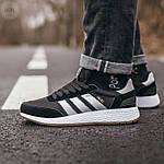 Мужские кроссовки Adidas Iniki (черно-белые) 107PL, фото 4