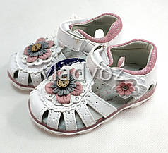 Детские светящиеся босоножки сандалии сандали с led подсветкой для девочки 22р 13см