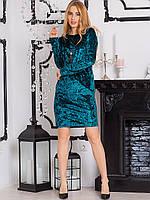 Велюровое платье с кулоном 2666, фото 1