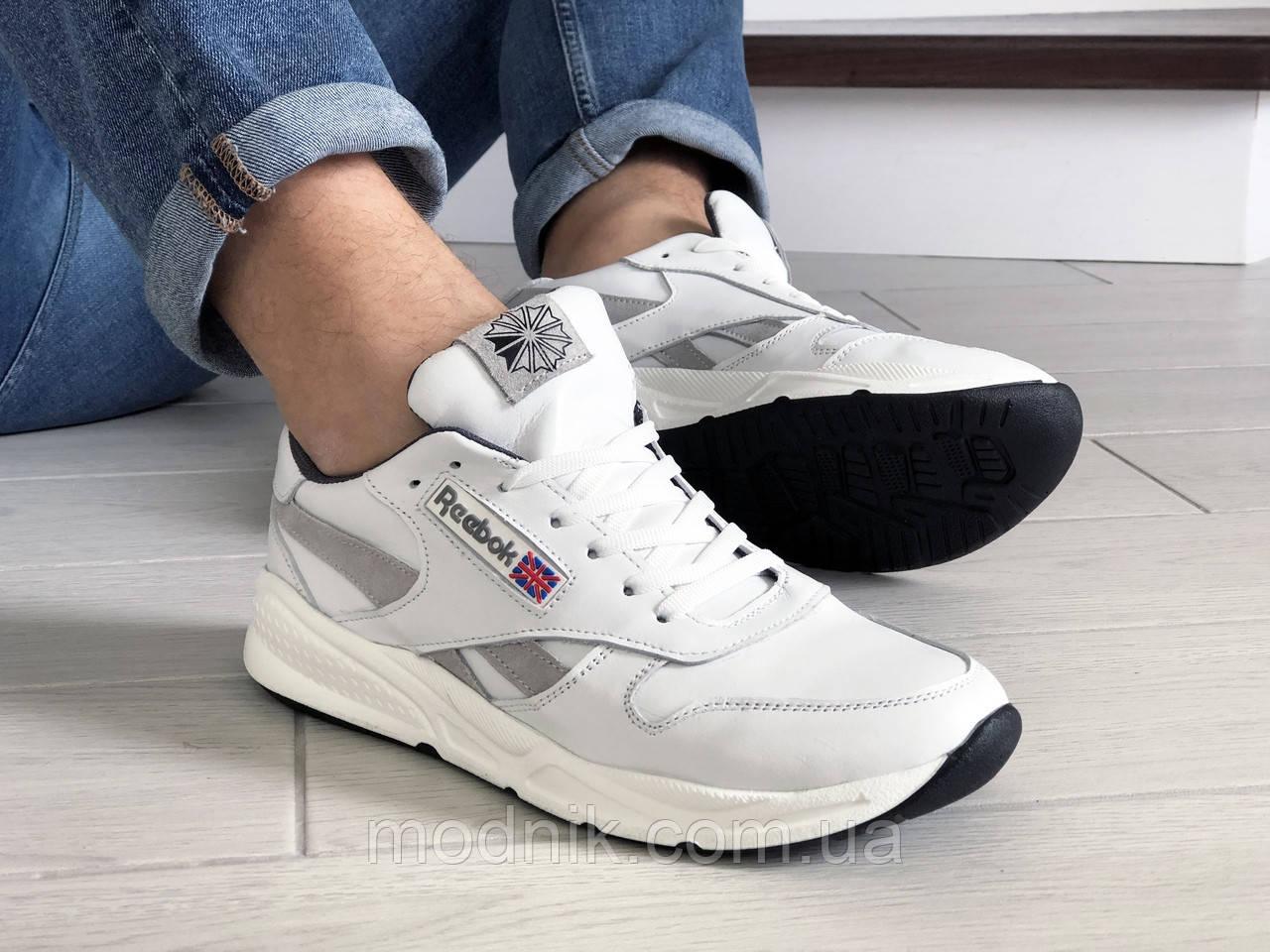 Мужские кроссовки Reebok (белые) 9239
