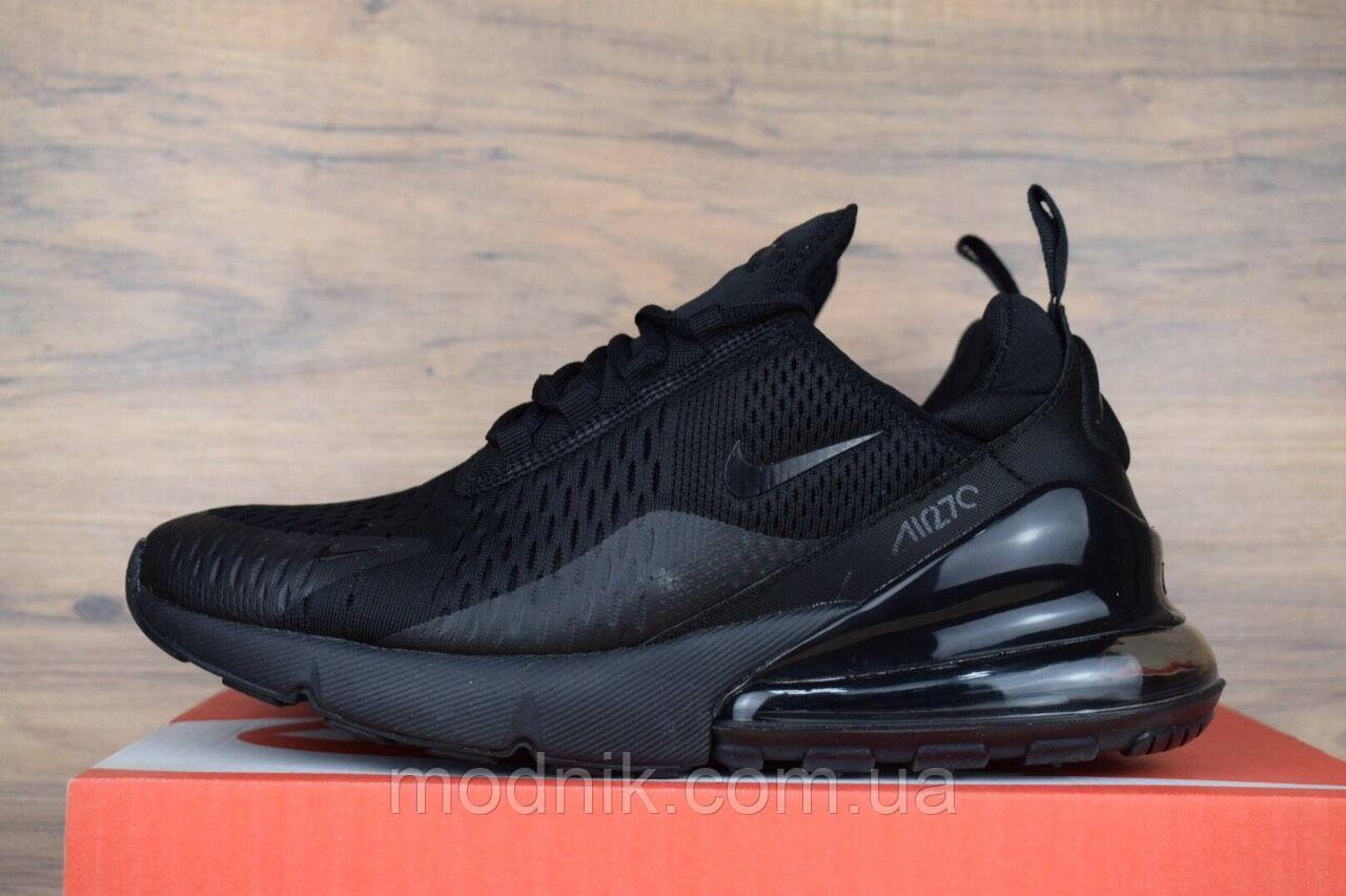 Мужские кроссовки Nike Air Max 270 (черные) 1636