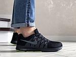 Мужские кроссовки Nike ZOOM (черно-серые с салатовым) 9242, фото 2