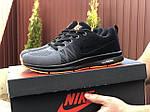 Мужские кроссовки Nike ZOOM (серо-черные с оранжевым) 9245, фото 2