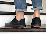 Мужские кроссовки Nike ZOOM (серо-черные с оранжевым) 9245, фото 3