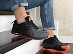 Мужские кроссовки Nike ZOOM (серо-черные с оранжевым) 9245, фото 4