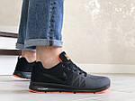 Мужские кроссовки Nike ZOOM (серо-черные с оранжевым) 9245, фото 5