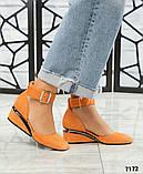 Черный, зеленый, оранж! Элитная коллекция! Шикарные туфли из итальянской замши, фото 2