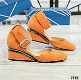 Черный, зеленый, оранж! Элитная коллекция! Шикарные туфли из итальянской замши, фото 3