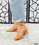 Черный, зеленый, оранж! Элитная коллекция! Шикарные туфли из итальянской замши, фото 4