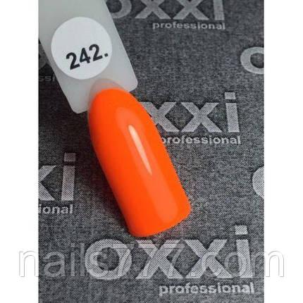 Гель лак Oxxi №242 (яркий оранжевый, эмаль) 8мл, фото 2