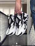 Мужские кроссовки Nike Adapt Huarache (бело-черные) 9241, фото 2