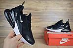 Мужские кроссовки Nike Air Max 270 (черно-белые) 1647, фото 3