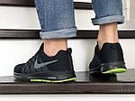 Мужские кроссовки Nike ZOOM (черно-серые с салатовым) 9242, фото 4