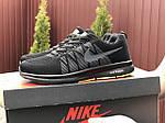 Мужские кроссовки Nike ZOOM (черно-серые с салатовым) 9242, фото 5