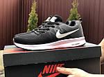 Мужские кроссовки Nike ZOOM (черно-серые с белым) 9243, фото 2