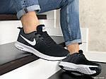Мужские кроссовки Nike ZOOM (черно-серые с белым) 9243, фото 4
