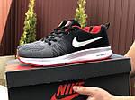 Мужские кроссовки Nike ZOOM (серо-белые с красным) 9246, фото 2