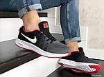 Мужские кроссовки Nike ZOOM (серо-белые с красным) 9246, фото 3