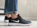 Мужские кроссовки Nike ZOOM (серо-белые с красным) 9246, фото 4