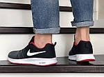 Мужские кроссовки Nike ZOOM (серо-белые с красным) 9246, фото 5