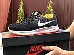 Чоловічі кросівки Nike ZOOM (чорно-білі з помаранчевим) 9247, фото 2