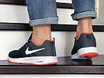 Чоловічі кросівки Nike ZOOM (чорно-білі з помаранчевим) 9247, фото 4