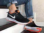 Чоловічі кросівки Nike ZOOM (чорно-білі з помаранчевим) 9247, фото 5