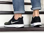 Мужские кроссовки Nike ZOOM (темно-зеленые с черным и белым) 9248, фото 4
