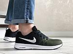 Мужские кроссовки Nike ZOOM (темно-зеленые с черным и белым) 9248, фото 5