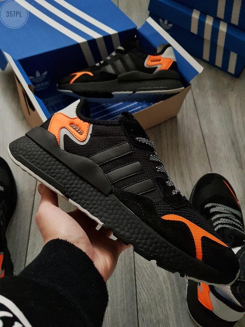Чоловічі кросівки Adidas Nite Jogger (чорно-помаранчеві) 357PL
