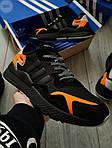 Чоловічі кросівки Adidas Nite Jogger (чорно-помаранчеві) 357PL, фото 2