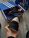 Чоловічі кросівки Adidas Nite Jogger (чорно-помаранчеві) 357PL, фото 3
