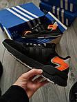 Чоловічі кросівки Adidas Nite Jogger (чорно-помаранчеві) 357PL, фото 4