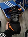 Чоловічі кросівки Adidas Nite Jogger (чорно-помаранчеві) 357PL, фото 7