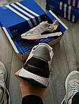 Чоловічі кросівки Adidas Nite Jogger (чорно-помаранчеві) 358PL, фото 2