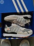Чоловічі кросівки Adidas Nite Jogger (чорно-помаранчеві) 358PL, фото 5