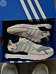 Мужские кроссовки Adidas Nite Jogger (черно-оранжевые) 358PL, фото 5