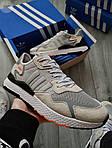 Чоловічі кросівки Adidas Nite Jogger (чорно-помаранчеві) 358PL, фото 7