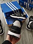 Мужские кроссовки Adidas Nite Jogger (черно-белые) 359PL, фото 2