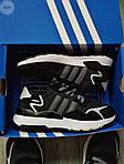 Мужские кроссовки Adidas Nite Jogger (черно-белые) 359PL, фото 3